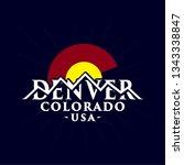 denver colorado logo. vector... | Shutterstock .eps vector #1343338847