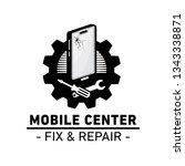 mobile center logo. mobile fix... | Shutterstock .eps vector #1343338871