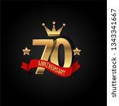 70 years anniversary simple... | Shutterstock .eps vector #1343341667