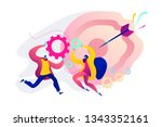 collaboration and communication ... | Shutterstock .eps vector #1343352161