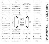 mega set of dividers for design  | Shutterstock .eps vector #1343354897
