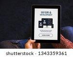 hands holding digital tablet...