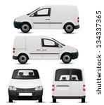 White Commercial Vehicle   Van