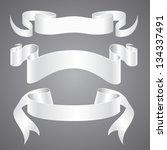 white paper ribbons | Shutterstock .eps vector #134337491