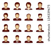 people icon set | Shutterstock .eps vector #134339675