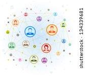 social media concept vector...   Shutterstock .eps vector #134339681