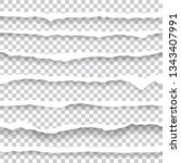 torn paper edges seamless... | Shutterstock .eps vector #1343407991