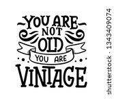 birthday lettering in retro...   Shutterstock .eps vector #1343409074