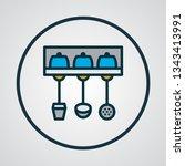 utensil holder icon colored... | Shutterstock .eps vector #1343413991