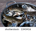 Live Blue Crabs In Pot For...