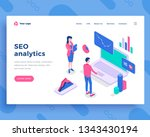 seo analytics concept  office... | Shutterstock .eps vector #1343430194