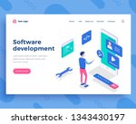software development concept ... | Shutterstock .eps vector #1343430197