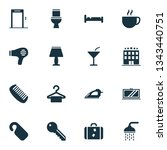 hotel icons set with do not... | Shutterstock . vector #1343440751