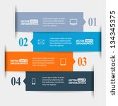 abstract paper infografics.... | Shutterstock .eps vector #134345375