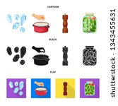 vector design of cooking and...   Shutterstock .eps vector #1343455631