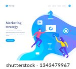 marketing strategy concept ... | Shutterstock .eps vector #1343479967