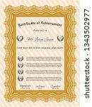 orange certificate of... | Shutterstock .eps vector #1343502977