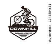 mountain bike  downhill bike... | Shutterstock .eps vector #1343504651
