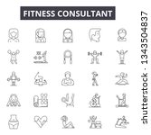 fitness consultant line icons...   Shutterstock .eps vector #1343504837