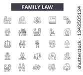 family law line icons for web... | Shutterstock .eps vector #1343505134