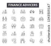 finance advicers line icons for ... | Shutterstock .eps vector #1343505167