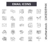 email line icons for web and...   Shutterstock .eps vector #1343505944