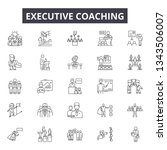 executive coach line icons for... | Shutterstock .eps vector #1343506007
