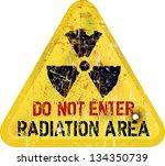 radiation area warning  vector... | Shutterstock .eps vector #134350739
