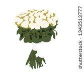 flower bouquet vector...   Shutterstock .eps vector #1343513777