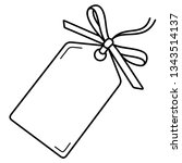 blank gift tag template with... | Shutterstock .eps vector #1343514137