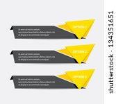 vector paper progress... | Shutterstock .eps vector #134351651