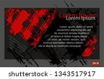 gray red background pattern... | Shutterstock .eps vector #1343517917