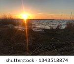 sundown over r gen  | Shutterstock . vector #1343518874