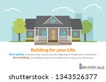 house and home template for... | Shutterstock .eps vector #1343526377