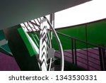 colorized photo of staircase... | Shutterstock . vector #1343530331