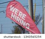 we are hiring banner flag...   Shutterstock . vector #1343565254