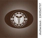 caduceus medical icon inside...   Shutterstock .eps vector #1343565737