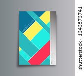 colorful abstract background... | Shutterstock .eps vector #1343573741