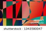 modern geometric abstract... | Shutterstock .eps vector #1343580047