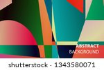 modern geometric abstract... | Shutterstock .eps vector #1343580071