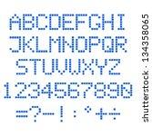 simple vector blue pixel... | Shutterstock .eps vector #134358065