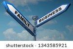 two blue arrow street signs... | Shutterstock . vector #1343585921