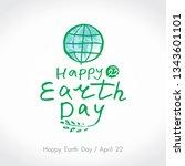 happy earth day. green... | Shutterstock .eps vector #1343601101