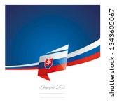 slovakia flag ribbon new... | Shutterstock .eps vector #1343605067