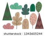 vector illustration of flat... | Shutterstock .eps vector #1343605244