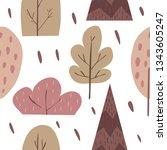 vector seamless pattern... | Shutterstock .eps vector #1343605247