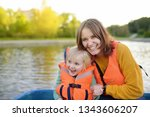 young mother and little son... | Shutterstock . vector #1343606207