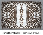 frame border vintage label or... | Shutterstock .eps vector #1343611961