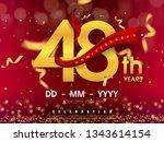 48 years anniversary logo... | Shutterstock .eps vector #1343614154