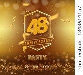 48 years anniversary logo... | Shutterstock .eps vector #1343614157
